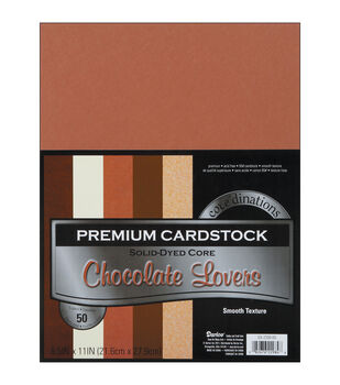 """Cardstock 8.5""""X11"""" 50/Pkg-Chocolate Lover-Smooth"""