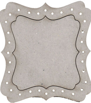 Die-Cut Grey Chipboard Embellishments-Dressing Room Mirror Frame