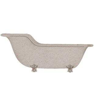 Die-Cut Grey Chipboard Embellishments-Vintage Bath Tub