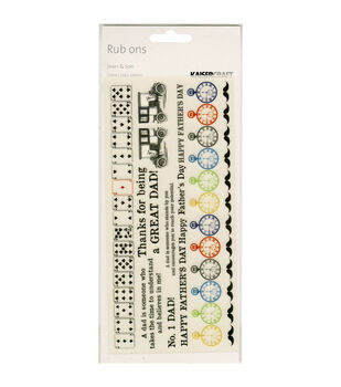 "Sears & Son Rub-Ons 8.25""X4"" Sheet-Colour"