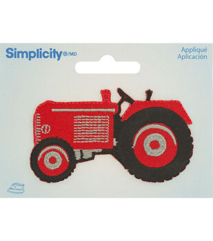 Simplicity Iron-On Applique-Green Tractor
