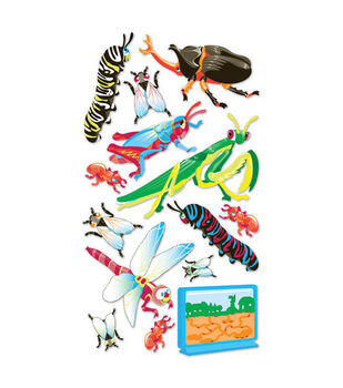 EK Success Metallic Dimensional Stickers-Bugs