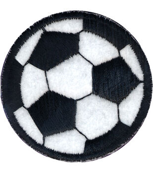 """Wrights Iron-On Appliques-Soccer Ball 2"""" 1/Pkg"""