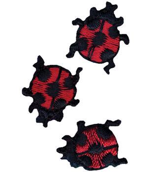 "Wrights Iron-On Appliques-Ladybugs 5/8"" 3/Pkg"