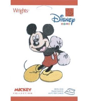 Disney Iron On Appliques-Mickey Mouse
