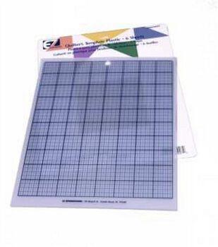 Template Plastic Grid 8 1/2 X11