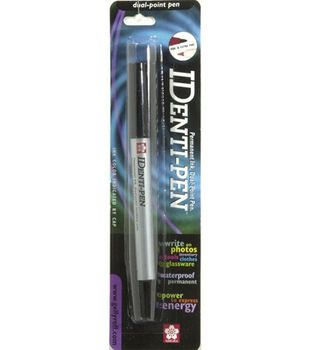 Identi-Pen Dual Point Permanent Ink-Black Ink