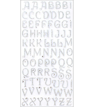 Making Memories Glitter Bling Alpha Stickers-75PK