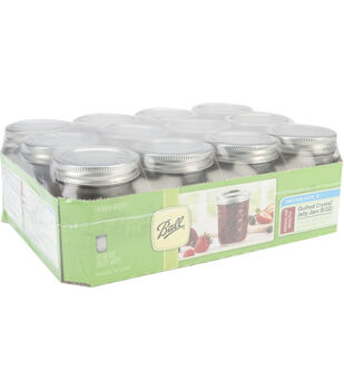 Ball Quilted Crystal Jelly Jar-8 Ounces-Case of 12
