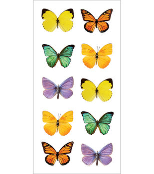 Paper House Stickers-Butterflies-2 Sheets
