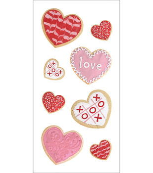Paper House Stickers-Valentine's Cookies