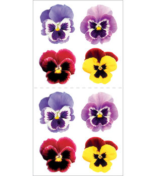 Paper House Stickers-Pansies