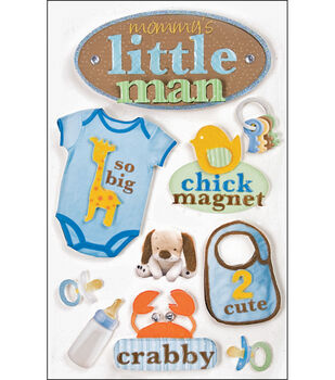 Paper House 3-D Stickers-Little Man