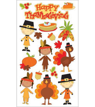 Sticko Harvest Sticker-Happy Thanksgiving