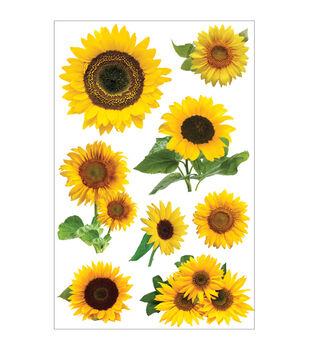 Paper House 3D Stickers-Sunflowers