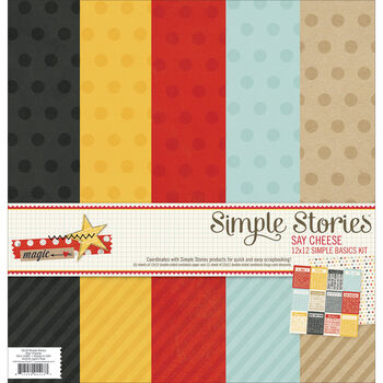 Simple Stories Say Cheese Simple Basics Paper Kit