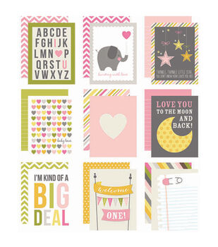 "Sn@p! Double-Sided Card Pack 3""X4"" 48/Pkg-Baby Girl"