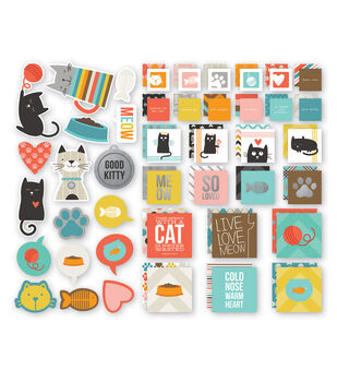 Simple Stories Insta Squares & Pieces - Cat