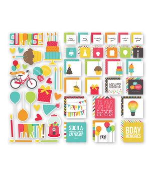 Simple Stories Insta Squares & Pieces - Birthday