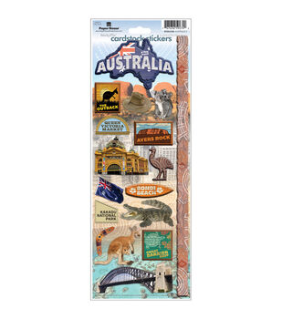 Paper House Cardstock Stickers-Australia