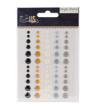 The Story Of Us Enamel Dots Embellishments 60/Pkg