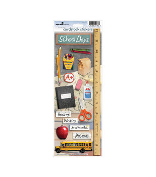 Paper House Cardstock Stickers-School Days