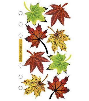 Sticko Vellum Stickers-Maple Leaves