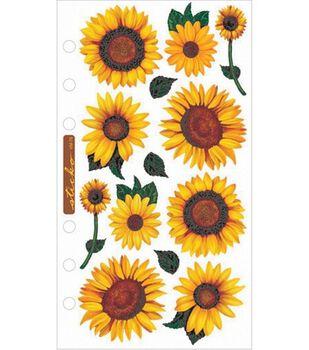 Vellum Stickers-Sunflowers