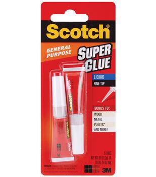 3M Scotch Super Glue Liquid 2Pk-0.07 Ounces