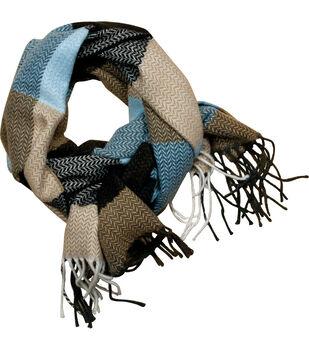Laliberi Ready To Wear Winter Scarf Tan Brown Blue