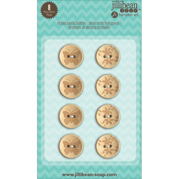 Jillibean Soup Stampables 8/Pkg-Buttons