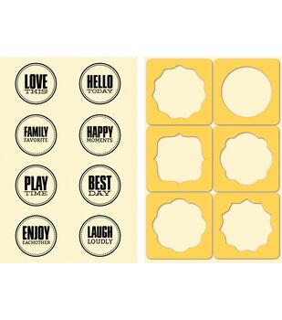 Jillibean Soup Stamp & Stencil Set-Seals