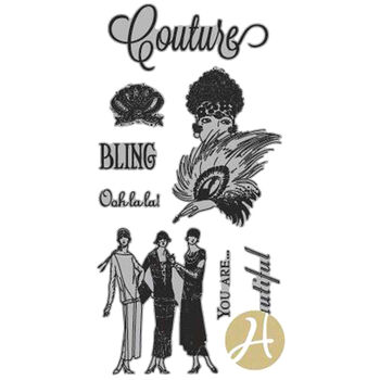 Hampton Art Graphic 45 Couture Acetate Cling Stamps Couture 1