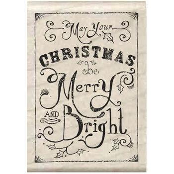 Hampton Art Mounted Rubber Stamp Merry & Bright