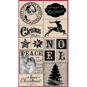 Hampton Art Hot Fudge Studio Mounted Stamp Set Peace On Earth