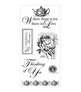 Graphic 45 Botanical Tea Cling stamps-#2