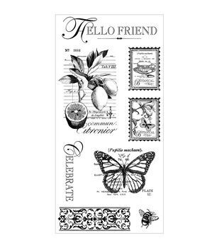 Graphic 45 Botanical Tea Cling stamps-#3