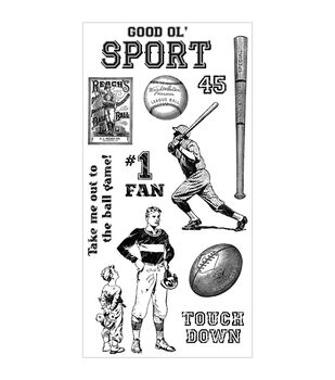 Graphic 45 Good Ol' Sport Cling stamps-#1