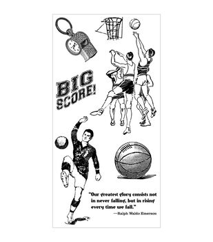 Graphic 45 Good Ol' Sport Cling stamps-#2