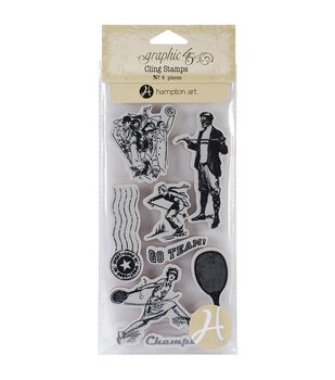 Graphic 45 Good Ol' Sport Cling stamps-#3