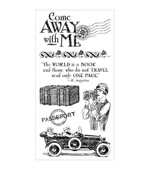 Graphic 45 Come Away With Me Cling Stamps-#1