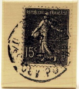 Hampton Art Rubber Stamp-French Poste