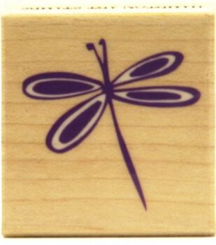 Hampton Art Rubber Stamp-Young Dragonfly