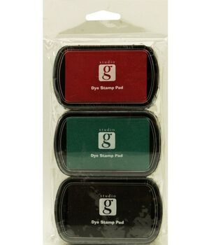 Studio G Washable Ink Stamp Pads-Black/Red/Green