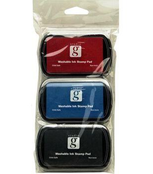 Studio G Ink Stamp Pads-Black,Blue,Red