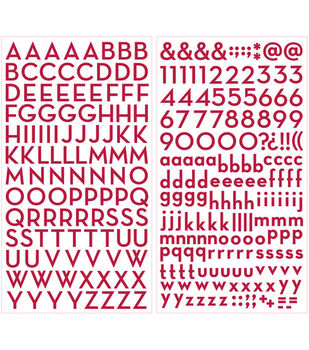 Making Memories Shimmer Alpha Stickers-Digits/Red