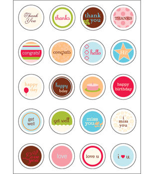 Making Memories Card-Making Stickers-20PK/Looking Glass