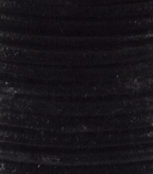 Silver Creek Round Lace 1mm X 25 Yards-Black