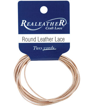 Silver Creek Leather Co. Round Lace 1 mmx2 Yards-Natural