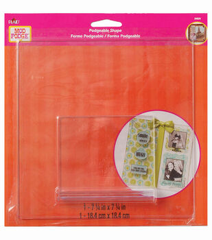 Mod Podge Acrylic Podgeable Shape with Stand, Large Square